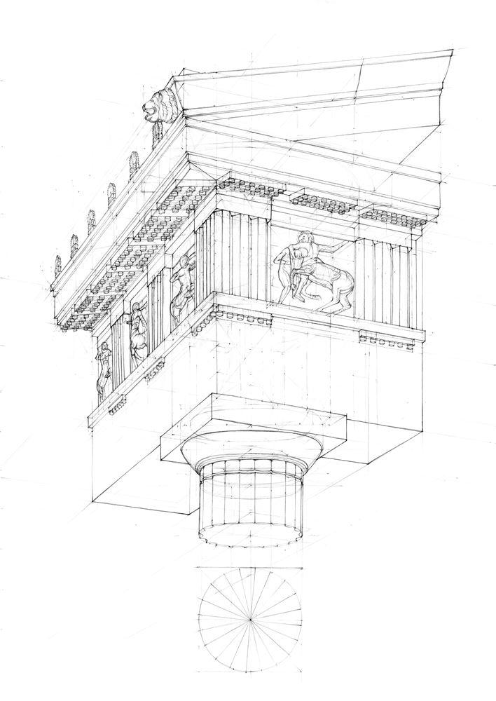 detal rysunku architektonicznego