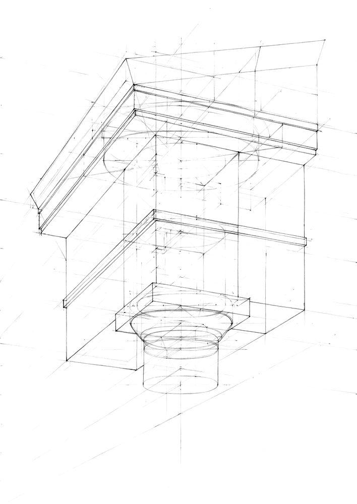 rysunek architektoniczny druga faza bez detali