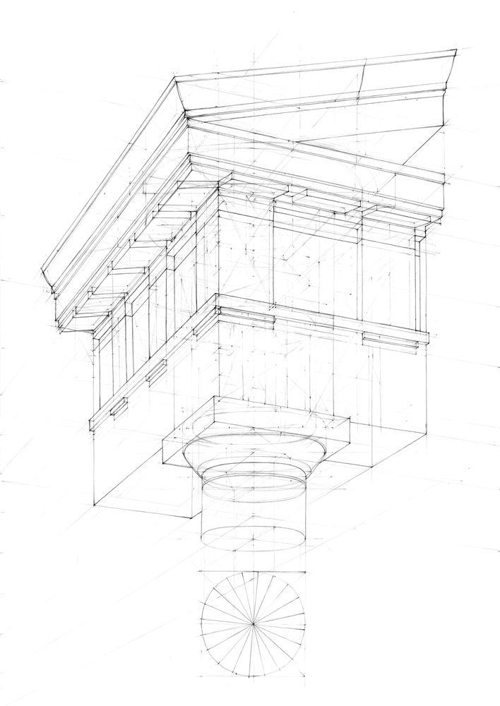 rysunek architektoniczny w perspektywie