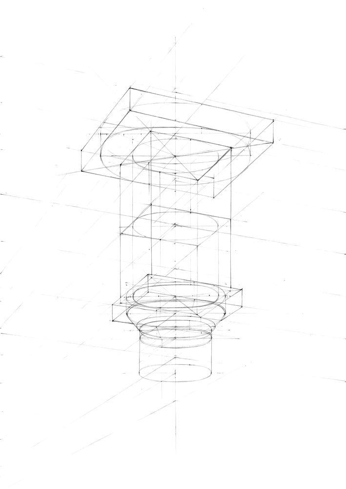 rysunek architektoniczny w pierwszej fazie